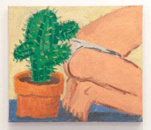 Todd Bienvenu Precarious Cactus, 2016 Oil on linen 21 by 24 inches $3,000