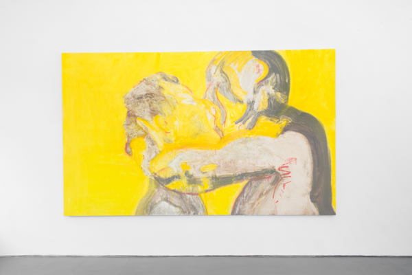 Installation shot, Yellow Kiss, Nicole Wittenberg