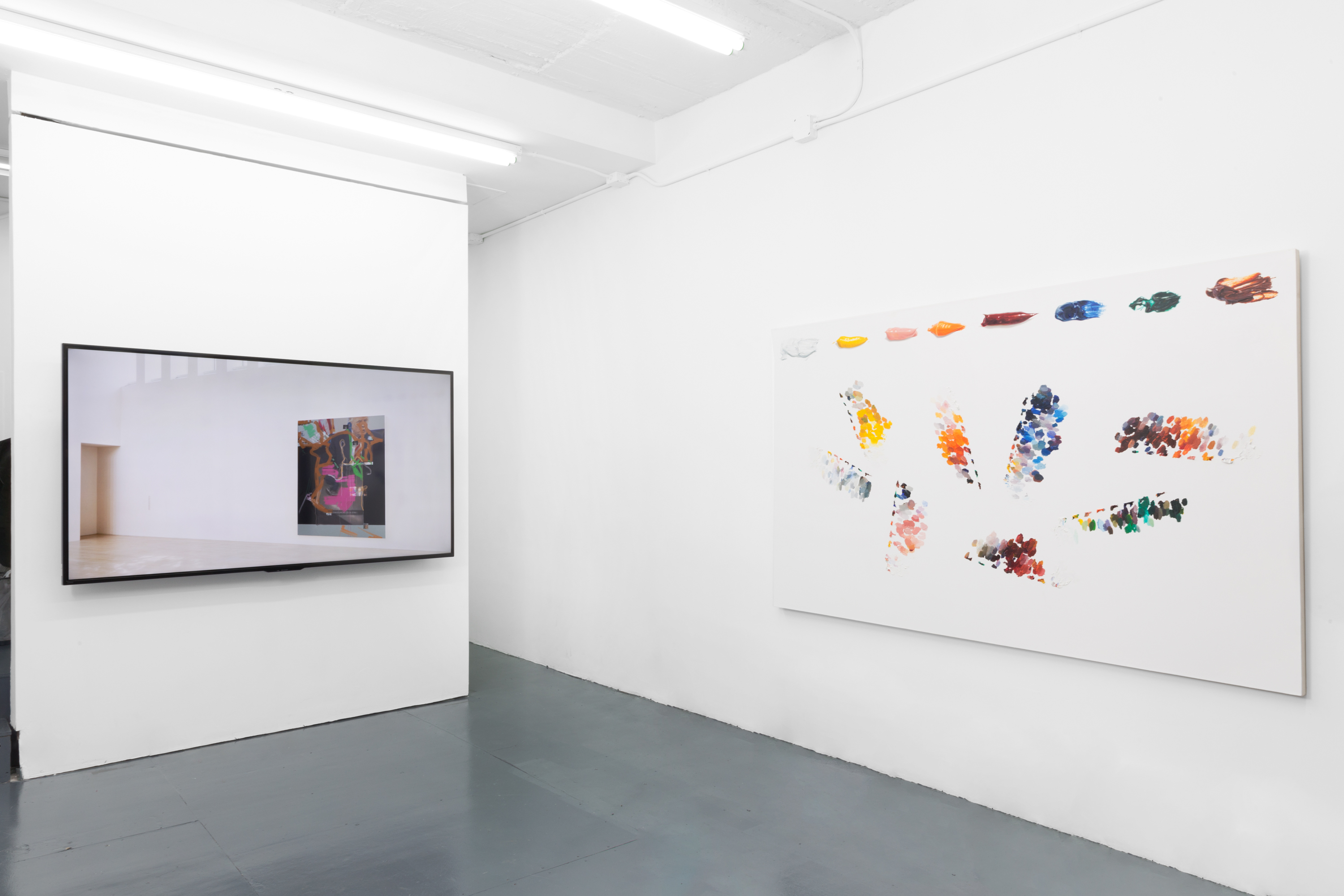 <em>Ekphrasis</em>, Conor Backman, Cynthia Daignault with Matt Hansel, & Siebren Versteeg (Installation view)