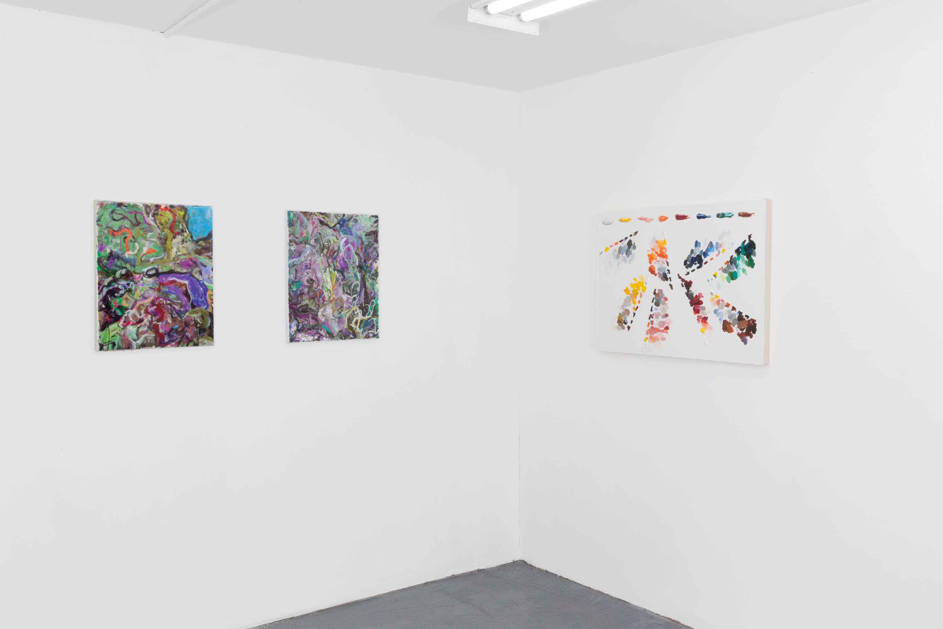 Ekphrasis, Conor Backman, Cynthia Daignault with Matt Hansel, & Siebren Versteeg (Installation view)