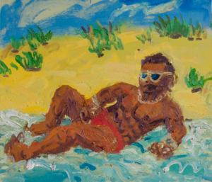 TB_red_speedo_2016_oil-on-linen_21by24